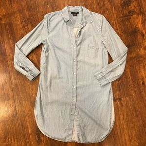 DKNY Chambray Shirt Dress D2